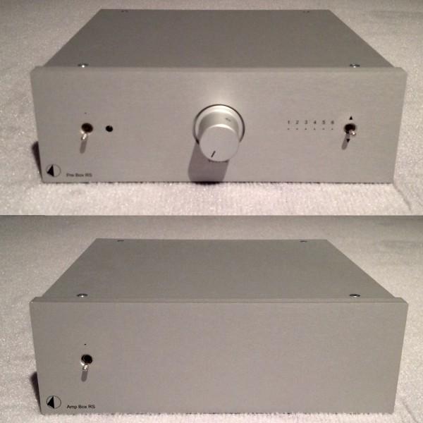 Einstiegsanlage bestehend aus Vorverstärker Pre Box RS und Stereo Endverstärker Amp Box RS